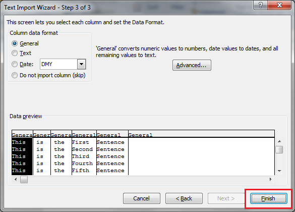 Pipe Delimited - Select Default Options